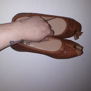 Avon brown flats with fringes  size 7 new